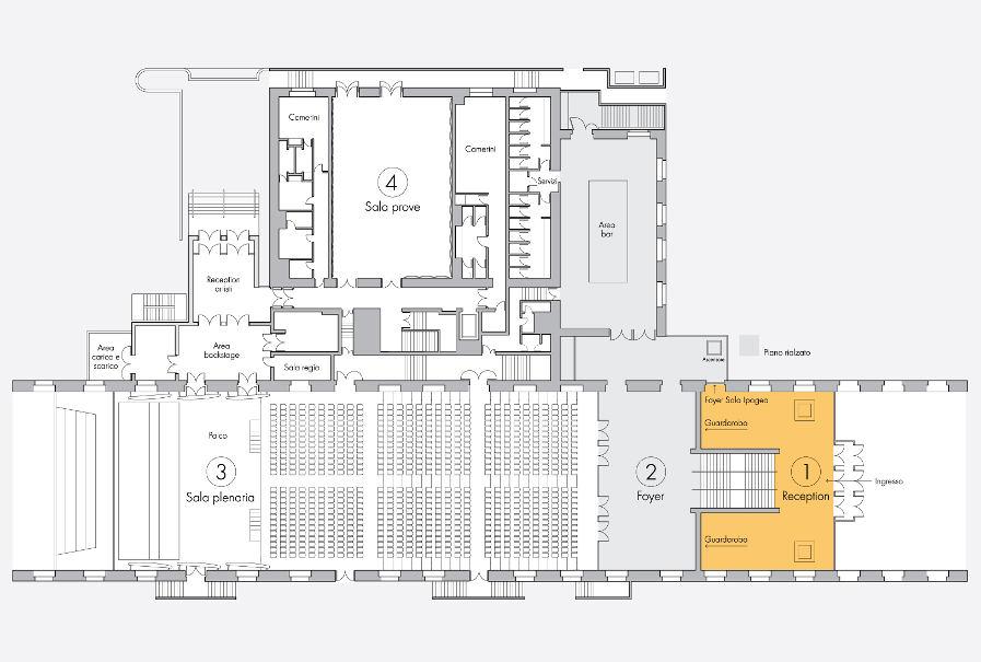 pianta-reception-Auditorium
